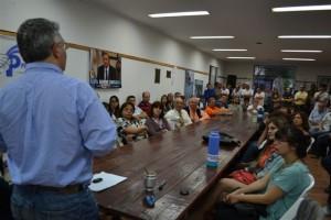 Barrientos en el plenario semanal del Partido Justicialista.