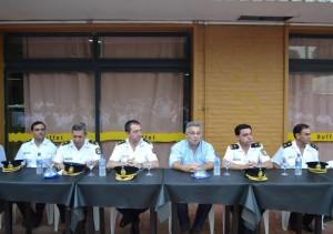 Barrientos en el acto por los 133 años de la Policía Bonaerense que realizó la Jefatura Distrital de Chacabuco.
