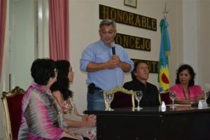 Barrientos participó del reconocimiento a Daniela Prieto.