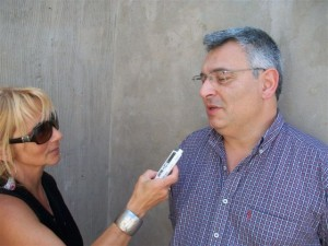 Barrientos participó del proyecto de construcción de la Planta de Tratamientos de Residuos Sólidos Urbanos en Chcabuco.