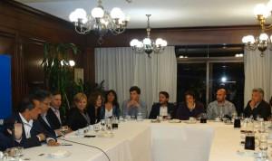 Barrientos en una reunión con Scioli.