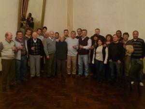 Barrientos con integrantes de la Soc. Italiana de chacabuco.