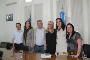 Barrientos recibió a Alejandra Stamateas.