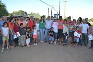 Barrientos entregó 38 terrenos en Chacabuco.