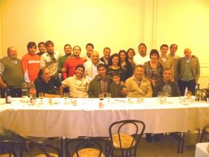 Barrientos concurrió acompañado por el Concejal Daniel Simone, Juan Pablo Errasti y Emilio Scandizzo.
