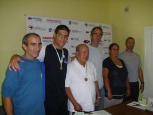 Reconocimiento al judoka Gustavo Basile.