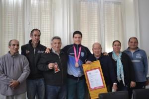 El  judoca Gustavo Basile fue recibido por Barrientos.