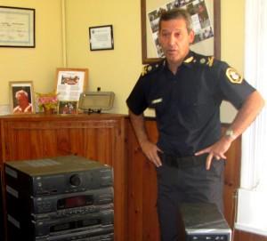 Jefe Distrital Comisario Inspector Rubén Benítez.