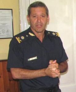 Comisario Inspector  Rubén Benítez. Foto gentileza: Pablo Pastore.