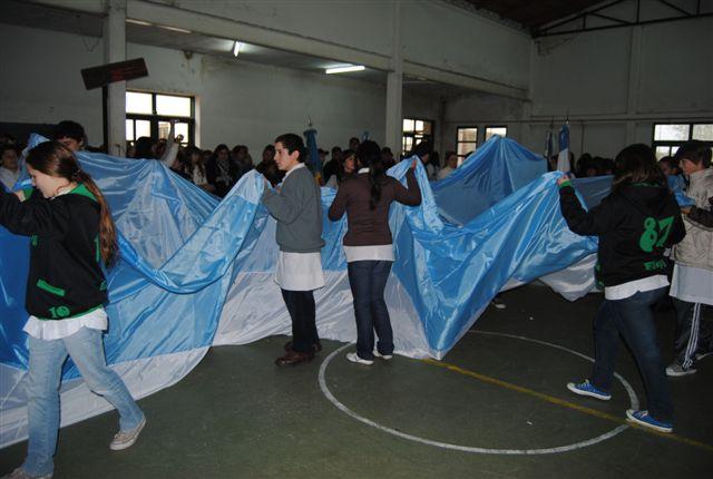 Otra imagen de la bandera perteneciente al proyecto Alta en el Cielo. Foto gentileza Beto Verde.