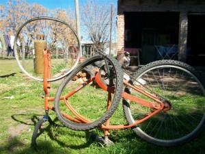 Estado en que quedó la bicicleta.