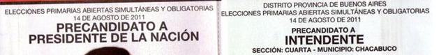 Las boletas que tienen esta inscripción no son válidas para las elecciones de hoy.