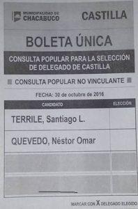 Boleta que será utilizada en Castilla.