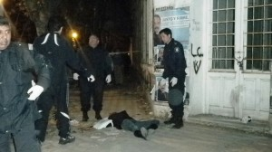 Imagen de la escena del crimen y suicidio ocurrido en Bragado.