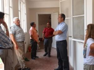 Funcionarios municipales en O´Higgins.