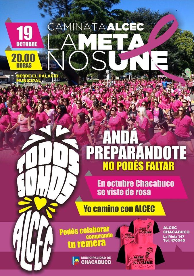 En octubre Chacabuco se viste de rosa