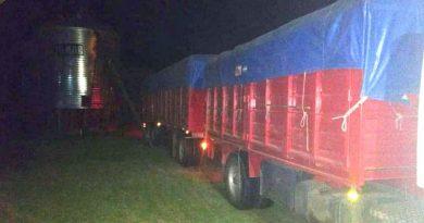 El camión secuestrado