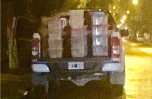 La camioneta con viandas