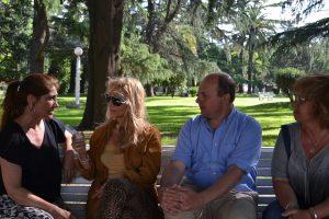 Los candidatos de Cambiemos durante la entrevista.