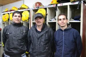 De izquierda aderecha: Luciano Candy, Jefe; Diego Barranco, Sub Oficial y Sub Ayudante y José Luis Petignat, 2º Jefe; serán algunos de los instructores del curso.