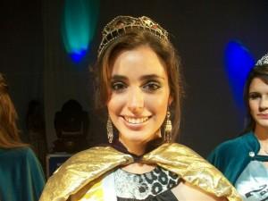 Karina Cataldo, actual reina de la Fiesta de la Primavera.