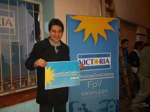 Carnaghi se reunió en  la sede del FPV Chivilcoy