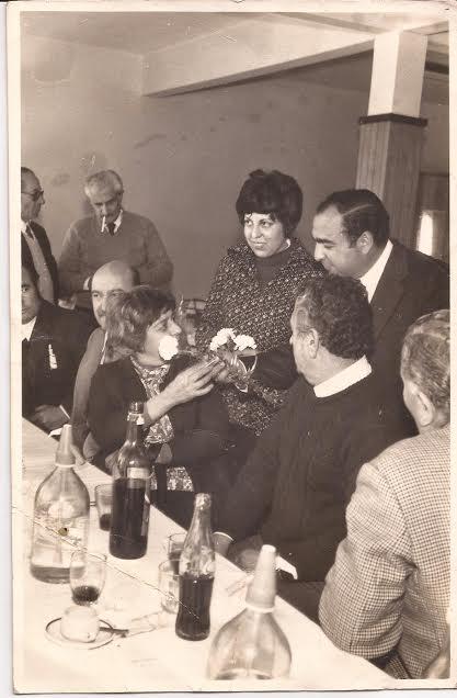 Almuerzo en la confitería de la Institución. La imagen pertenece a la década del 70.