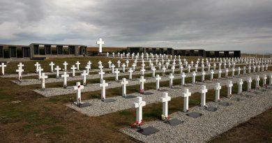 Cementerio de Darwin, en Islas Malvinas