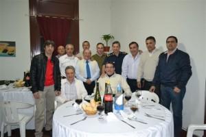 Cena excombatientes en la Comisaría de Chacabuco.