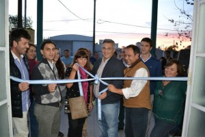 Barrientos en la inauguración del Centro de Zoonosis.