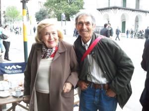 China Zorrilla junto a Jesús Roldán, en octubre de 2008.