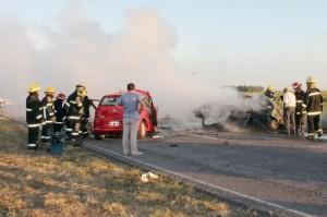 Seis muertos por el choque frontal de dos autos sobre la ruta provincial 85.