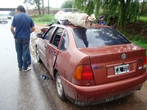 El auto de Soubelet luego del choque.