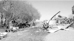 Otra imagen del accidente ocurrido en inmediaciones de Rawson.