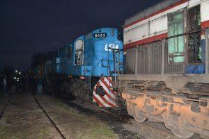 Choque de trenes en Rawson.