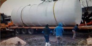 Colocación del tanque cisterna