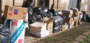 Parte de las donaciones que iban destinadas desde Rawson a Gancedo, provincia de Chaco y que sean repartidas en Sacháyoj, provincia de Santiago del Estero.