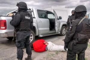 Uno de los cuatro detenidos en Giles.