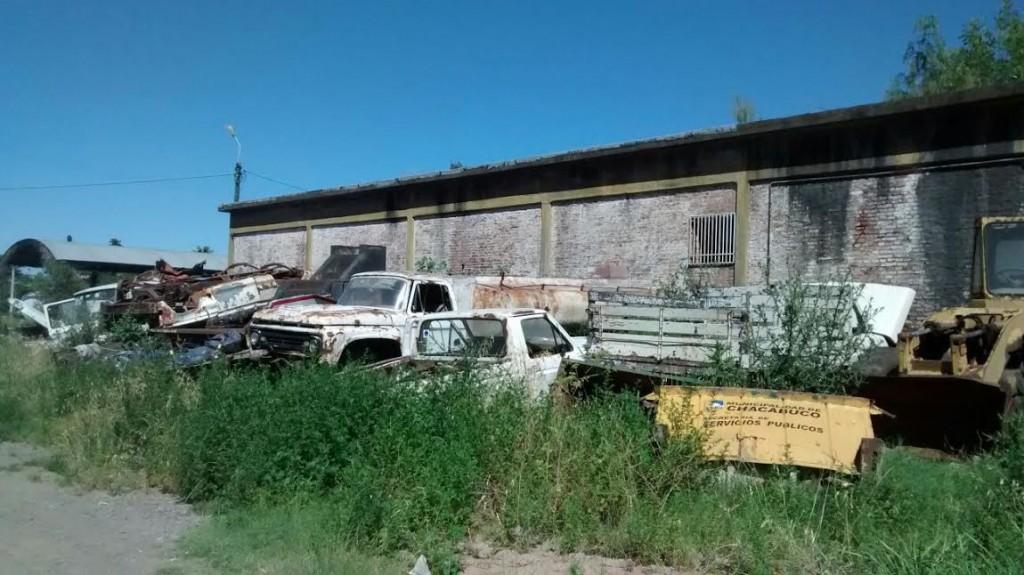 Otra fotografía que corresponde al corralón municipal de Chacabuco.
