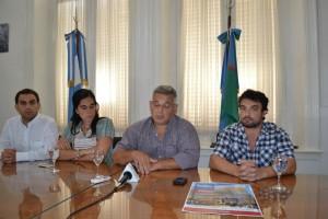 Barrientos en la presentación de los Corsos 2013 y los actos por la Batalla de Chacabuco.