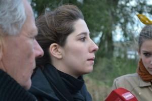 Vecinos de O´Higgins pidiendo por su acceso el pasado 12 de abril junto a la gente de Castilla.