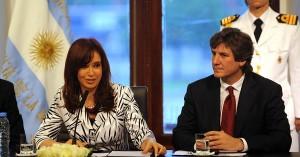 Cristina Fernández y su compañero de formula Amado Boudou.