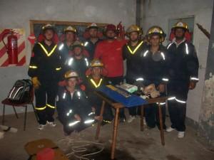 Los asistentes al curso de atención de emergencia.
