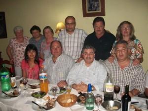 Fadel junto a miembros del Sindicato de Trabajadores Municipales de Chacabuco.