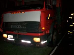 Otra imagen del camión conducido por Cabrera, domiciliado en Alberti.