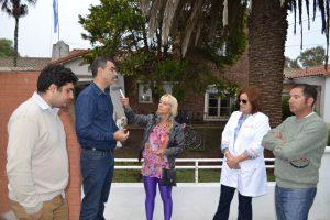 Courade, Di Piero, Charini y Gómez, durante la entrevista con Mónica del Castillo.