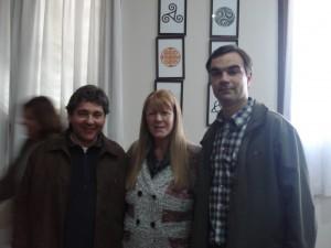 Giannini, Stolbizer y Di Piero.