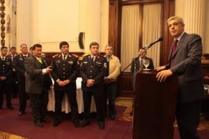 Domínguez refiriéndose a la tarea de los Bomberos Voluntarios.