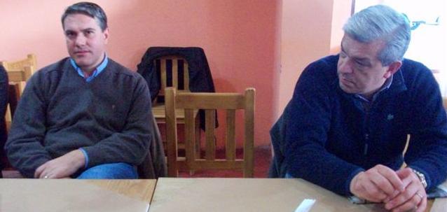 El Diputado Provincial Darío Golía y el Presidente de la Cámara de Diputados de la Nación Julián Domínguez en Rawson.