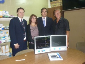 Dos monitores Multiparamétricos para Terapia Intensiva y Quirófano del Hospital de Chacabuco.